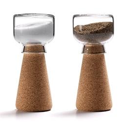 Materia & Nendo's Par Cork Salt + Pepper Shaker