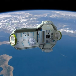Russia's Orbital Technologies announces plans for a hotel in orbit 217 miles above the earth.