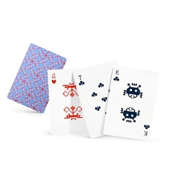Space Invader playing cards by Alexei Lyapunov and Lena Erlikh.