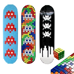 i keep forgetting to post these.  check out these sweet decks from mekanism.  space invaders/rubiks cube decks.  =)