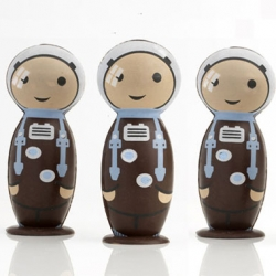 These space theme chocolate was inspired by an astronaut who took packages of Artisan du Chocolat's chocolate-covered ginger to the International Space Station with her.