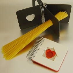 Superdupia's Spaghetti Book is a brilliant way to perfectly measure your pasta portions, and store it on your bookshelf.