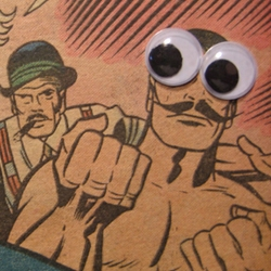 An ad for NOTCOT suggested that y'all might like googlie-eye related humor. BEHOLD! Spare Eyes!
