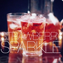 Strawberry Sparkle ~ A great video showing how to make a fresh drink to celebrate New Year's Eve!