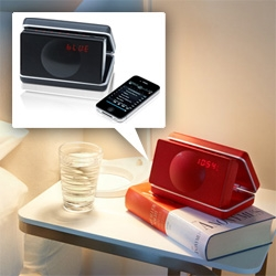Geneva Sound Systems launches a new portable travel speaker ~ powerful sound in a clamshell case with radio, alarm, bluetooth, line in and more!