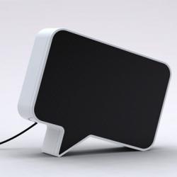 Speak-er is a playful speaker design by Sherwood Forlee that puts the SPEAK back into Speakers.