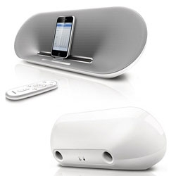 The elegant and chic Philips Fidelio docking speaker delivers stunning sound from your iPhone or iPod with PureDigital technology.