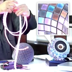 Interesting 3D Printed Speakers Lit With special LED strips from LumiGeek in this Wired video.