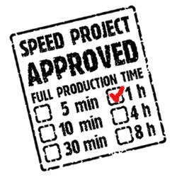 Speed Project! I know ~ it's not about how fast you are ~ but when you ARE that fast, love this little widget you can apply to show just how quickly it can be accomplished...