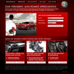 How about a Speed Date? Not with girls.. but with 3 nice looking cars! Amazing online campaign for AlfaRomeo from OgilvyInteractive in Switzerland.