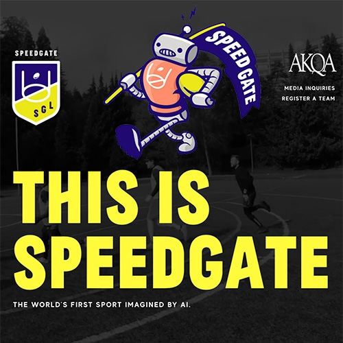 Speedgate - AKQA fed an AI 400 international sports and had it create a new game - from the gameplay, to the rules and even the logo.