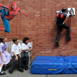 Hibiki Kono had a dream — he wanted to be like his hero, Spiderman. So, the 13 year-old set to work making his dream a reality. He's used two 1,400-watt recycled vacuum cleaners to make a machine that allows him to scale walls!  Read more: Self Proclaimed Spider Boy Scales Walls Using Recycled Vacuums | Inhabitat - Green Design Will Save the World
