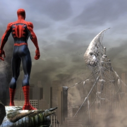 Trailer for the new Spiderman video game, Web of Shadows. The game joins combat and web slinging.