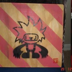 the spikis spikis Stencils by Tony Shiau Nakanari