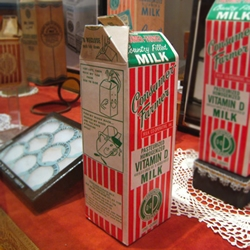 The exhibit, Over Spilt Milk, at the City Reliquary Museum in Brooklyn, tells the story of New York's Consumer-Farmer Milk Cooperative through pamphlets, broadsides, and vintage milk cartons from the 1930s.