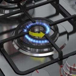 Spiral Burner Cooktop by Alireza Alavi