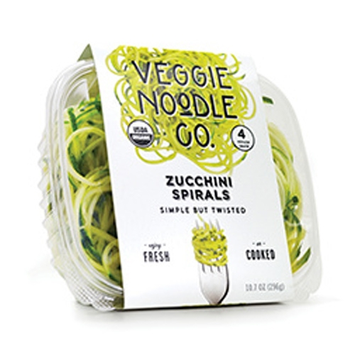 Veggie Noodle Co. - packaged spiralized zucchini, butternut, beets, and and sweet potato. Perfect for when you want spirals but are too... lazy? busy? hungry?