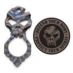 Raid Ops SP5BMB Skull - Titanium  heat-treatmented skull defense tools. Defend your body. Protect your spirit.