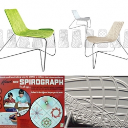 "Remember that cool toy, the Spirograph by Kenner? Alexander Purcell of Aprro Design does and his Spiro chair has just won the ""Best Product"" award at the 2010 California Home And Design Awards."