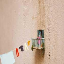 Slinkachu has been working hard in Grottaglie,Italy, he installed 5 different pieces in two days, this is one of them and he said it's the biggest piece he has ever done…