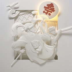 Elaborate paper sculptures by Jeff Nishinaka