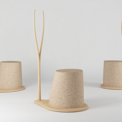 a mobile coat rack and