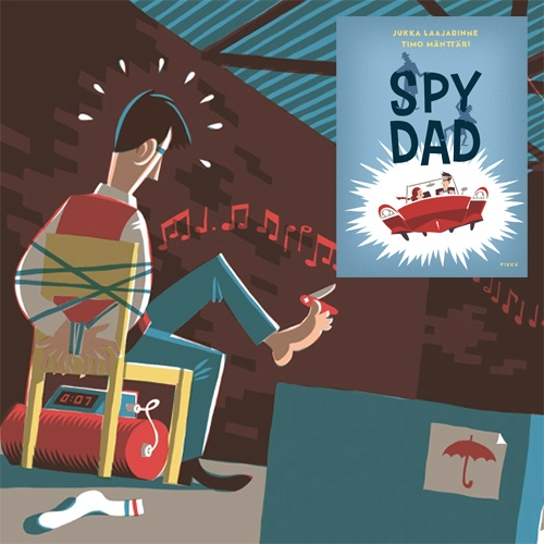 Spy Dad by Jukka Laajarinne and illustrated by Timo Mänttäri is a gorgeously illustrated picture book!