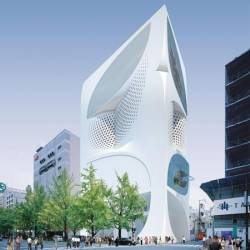 Proposed flagship store for fashion house Louis Vuitton in Japan.