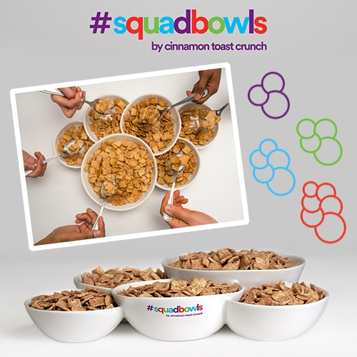 #SquadBowls from Cinnamon Toast Crunch. There are Squad Goals, and now there are SquadBowls for your squads of 3, 4, 5, and 6 to cereal together.