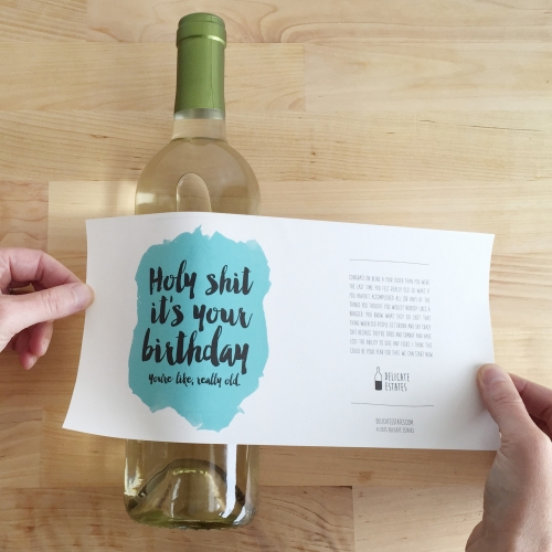 Working Not Working interview with Delicate Estates - dark-humored adhesive sympathy cards that double as wine labels. They're perfect for sensitive occasions like breakups, getting fired, and (eyeroll) having babies.