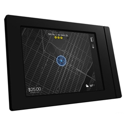 Square, the company that turned the iPad into a cash register, will soon rollout a new device for taxis. The encased iPad has clean UI and map.
