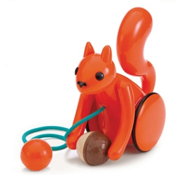 Nutty Squirrel Pull Toy over at Plastica!