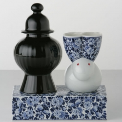 Marcel Wanders' incredible collection of Deflt Blue Vases for Moooi