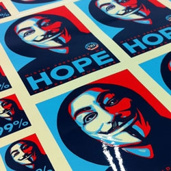 Get a free Shepard Fairey #OCCUPY Sticker from the folks at Stickerobot.com