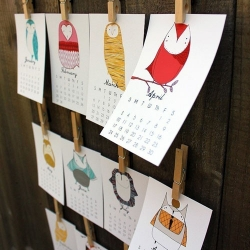 Stacie Bloomfield from Arkansas created this lovely owl calendar for 2012.