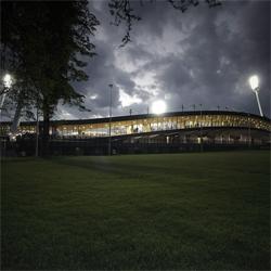 The Ring Stadium in Maribor, Slovenia. Very impressive, i like it better than the World Cup/Olympics stadiums for its simplicity. By OFIS arhitekti & Multiplan arhitekti.