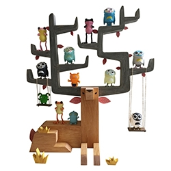 Autumn Stag by Gary Ham - an innovative take on shelving for toy collectors. This stag can fit up to 30 minis.
