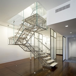 'Genetic Stair' by Brooklyn architects Caliper Studio is a one of a kind design feature in their renovation of a 3,000sqft Upper West Side apartment.