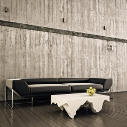 The Stalac coffee table is based on the idea of taking a rectangular section from a cave ceiling and using the stalactites as the table legs.