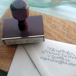 Primele makes beautiful calligraphy address stamps