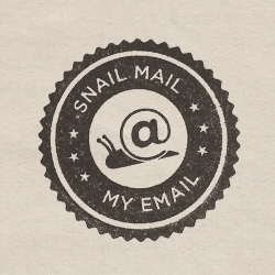 Snail Mail My Email, free service by volunteers who hand write, artistically interpret strangers' emails, send the physical letters to intended recipients. Back for one week, from 11/12/12 in correspondence with the book's release.