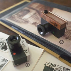 Tiny camera stamps from Japanese distributor Decole for a nostalgic nod to vintage cameras.