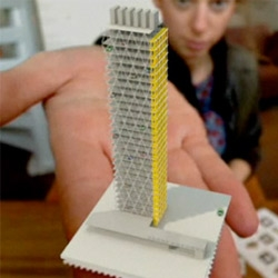 The Netherlands Institute of Architecture created these postal stamps that, when held up in front of your webcam, display 3D models of five unbuilt works by Dutch architecture offices.