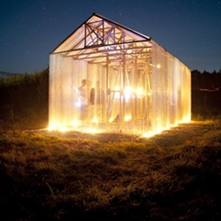 We'd love to host a cocktail party in this amazing 'proto-barn' built in the Russian countryside by FAS(t).