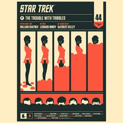 "Olly Moss' ""The Trouble With Tribbles"" Star Trek Poster ~ both editions are stunning!"