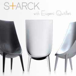 We present the chair Out-In signed by Starck and Eugeni Quitllet - Presented by Driade during the Milan Design Week 2009 ...