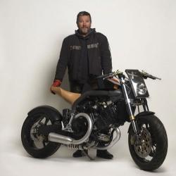 The new Cafe Racer Super Naked bike designed by Phillipe Starck