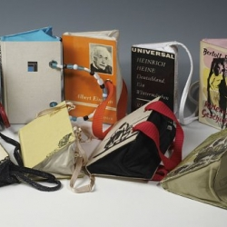 im not so sure about the bookbag by Cogitatio...it seems somehow sacriligious to gut a book like that...