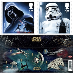 The Royal Mail's Star Wars Stamp Collection - launching Oct 20.