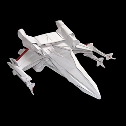 Starwarigami is the creation of Martin Hunt and is a set of origami designs based on Star Wars ships and machines.